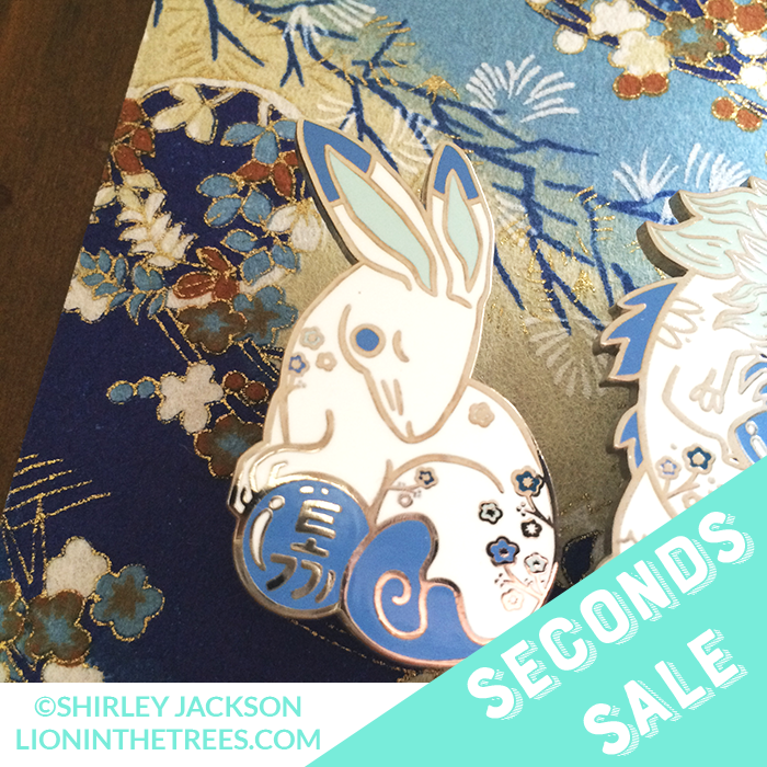Seconds Sale Chinese Zodiac Series 3 - Blue and White Enamel Pins