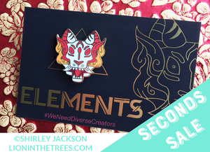 Seconds Sale Limited Edition Elements Anthology Fire Tiger Enamel Pin
