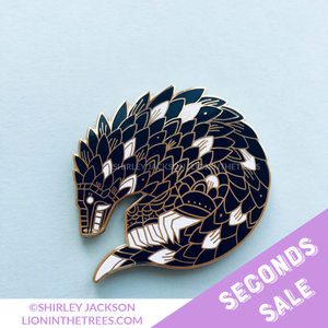 SECONDS SALE - Pangolin Enamel Pin (ANCIENT BEAST VERSION)