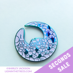 SECONDS SALE - Rainbow Metal Pangolin Enamel Pin
