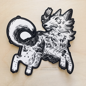 Year of the Coyote Sticker