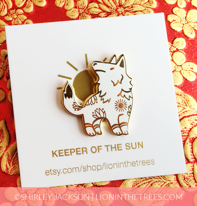 Keeper of the Sun Enamel Pin