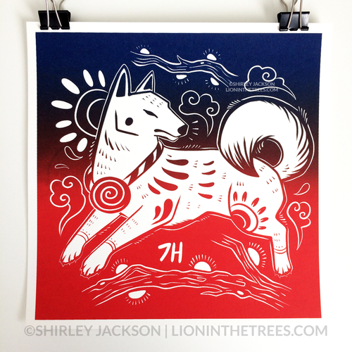 Year of the Dog - Chinese Zodiac - Limited Edition Screen Print