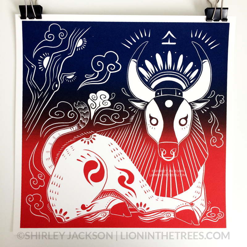 Year of the Ox - Chinese Zodiac - Limited Edition Screen Print