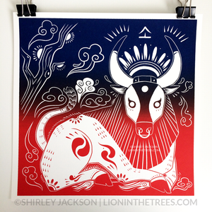SECONDS SALE - Year of the Ox - Chinese Zodiac - Limited Edition Screen Print