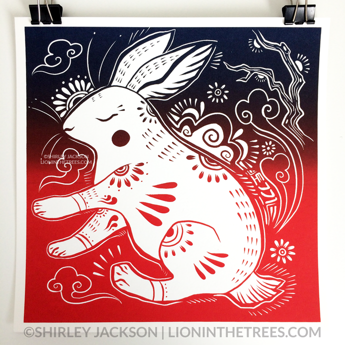 Year of the Rabbit - Chinese Zodiac - Limited Edition Screen Print