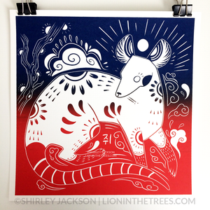 Year of the Rat - Chinese Zodiac - Limited Edition Screen Print