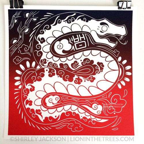 Year of the Snake - Chinese Zodiac - Limited Edition Screen Print