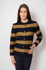 BLUE GOLDIE STRIK CARDIGAN