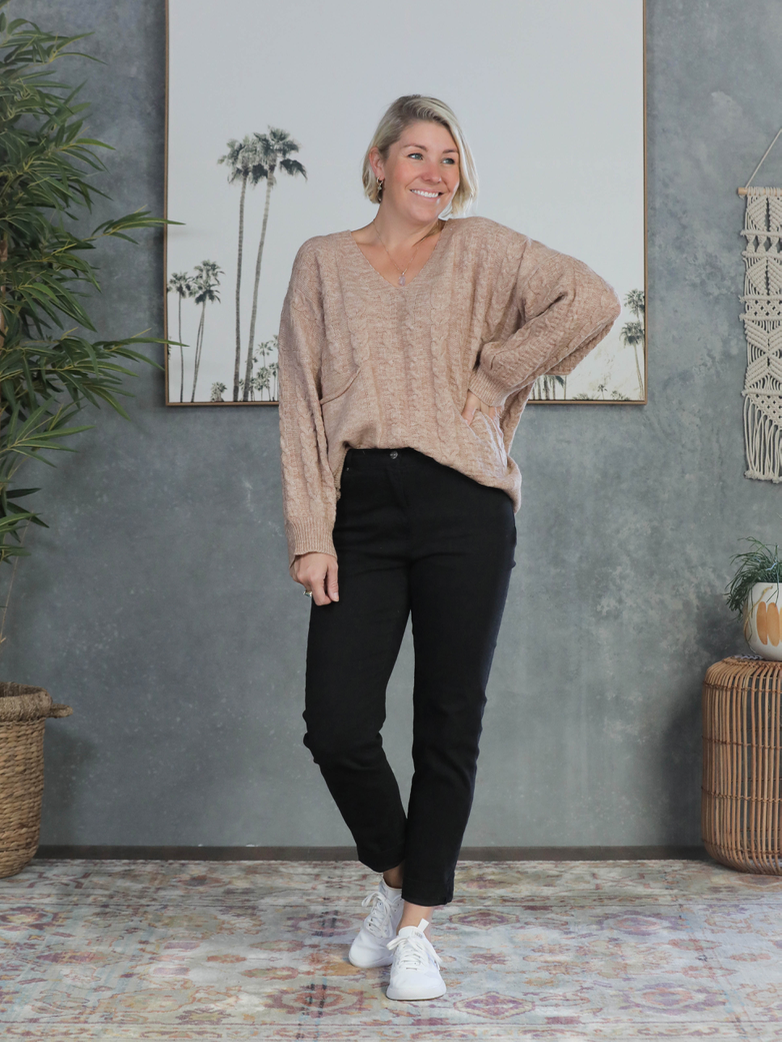 Cable Knit Sweater - Latte