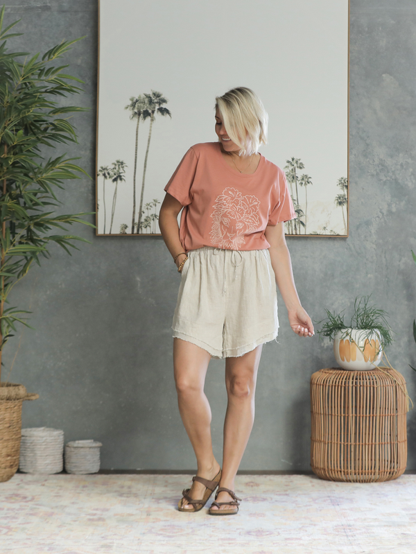 Nikita Linen Shorts - Natural