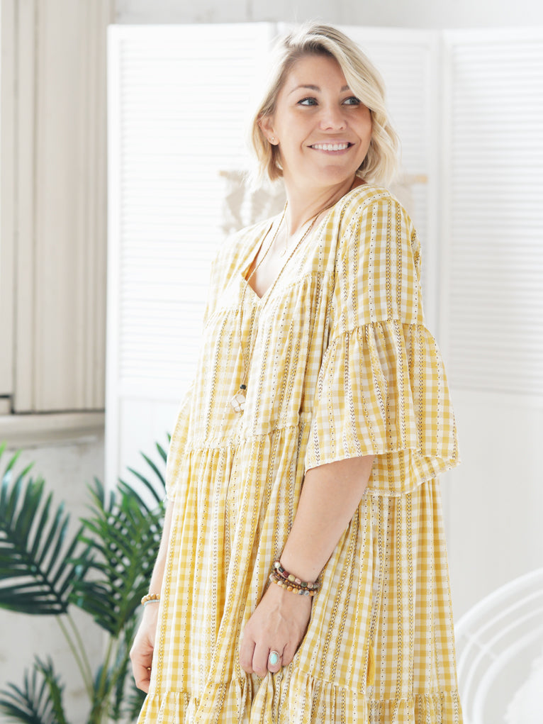 Keya Maxi - Gingham Light