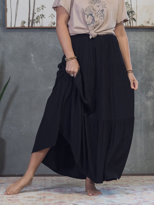 Daisy Maxi Skirt - Black