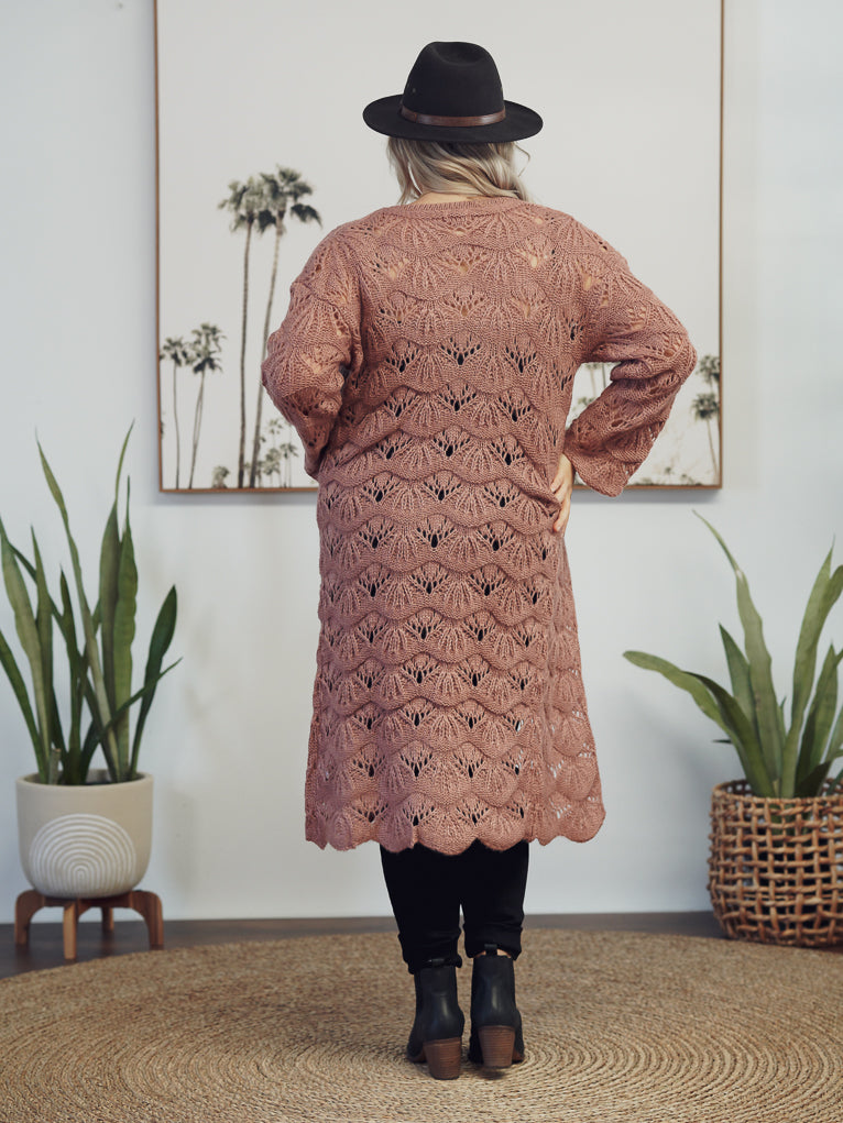 Vintage Bohemian Knit - Dusty Rose