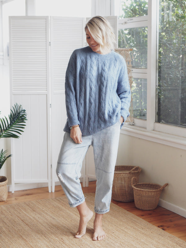 Mabel Knit - Blue