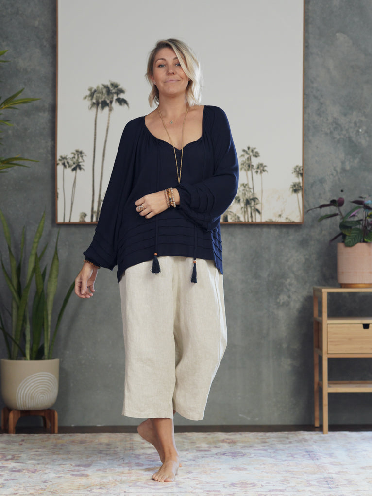 Kaia Blouse - Navy