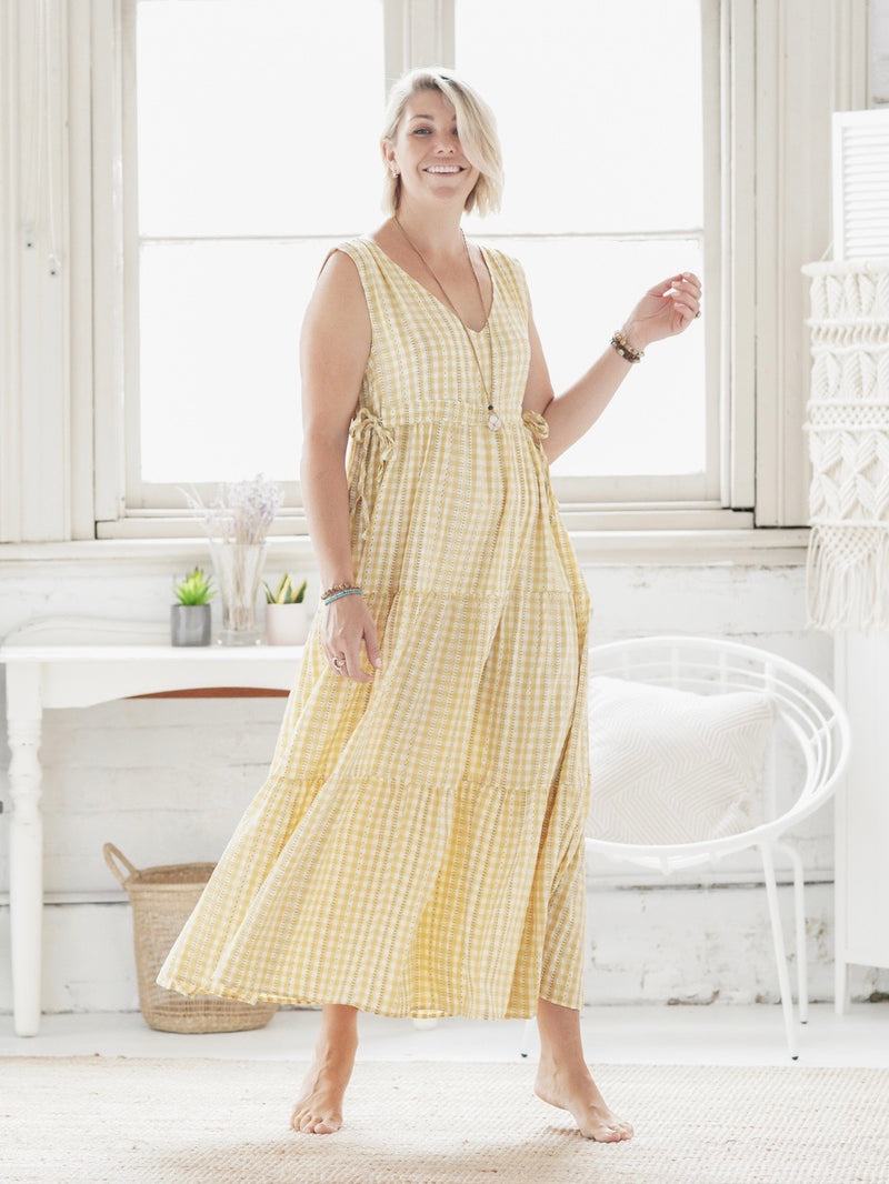 Lua Maxi - Gingham Light