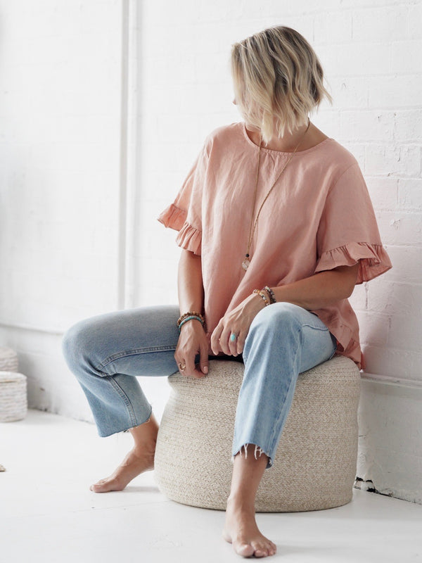 Adra Shirt - Blush Linen