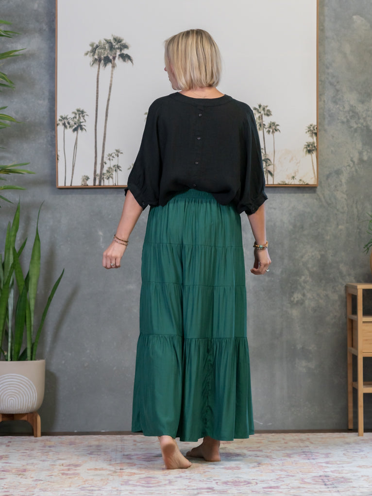 Daisy Maxi Skirt - Emerald