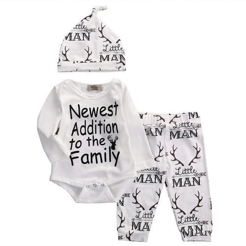 Little Man baby outfit set