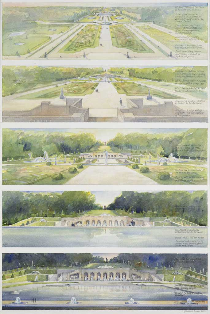 Château de Vaux-le-Vicomte (Sequence of perspectives through the gardens, morning to evening) – Maincy