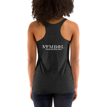 Load image into Gallery viewer, Symbol Black on Black Racerback Tank