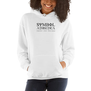 Unisex  White Symbol Atheltica Podcast, Gear, Greatness Hoodie