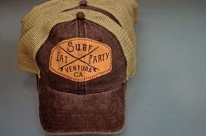 EAT SURF PARTY Soft Trucker Hat