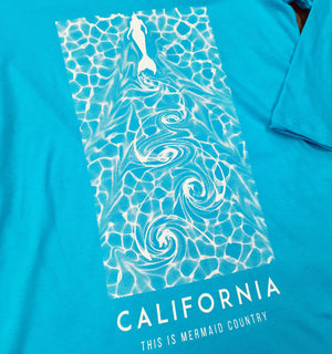 "California ""This is Mermaid Country"" 3/4 Sleeve"