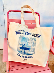 Hollywood Beach Oversize Heavy-Duty Canvas Tote