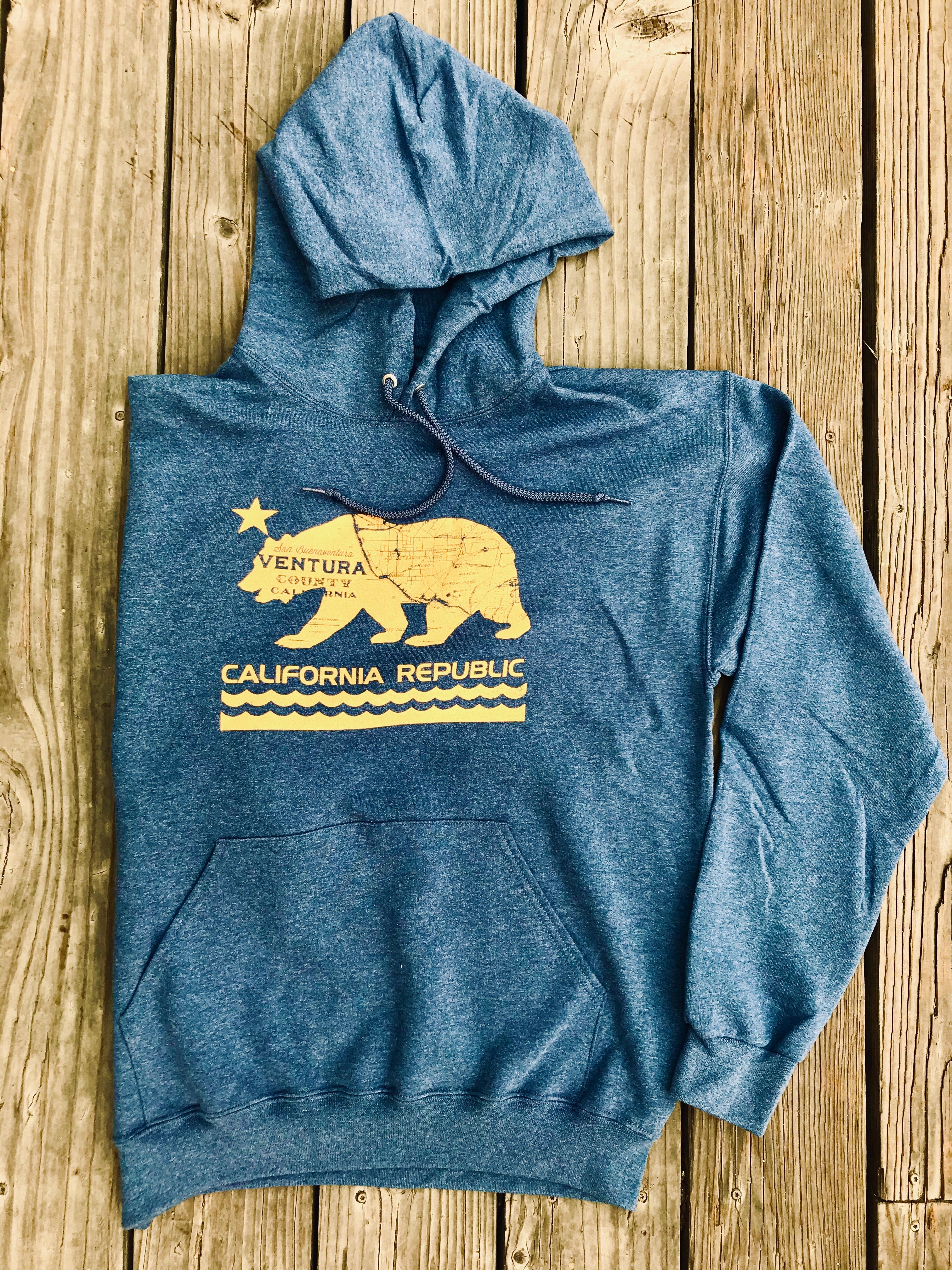 Ventura County California Bear midweight pullover hoodie