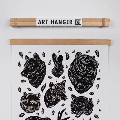 Magnetic Wood Art Hanger