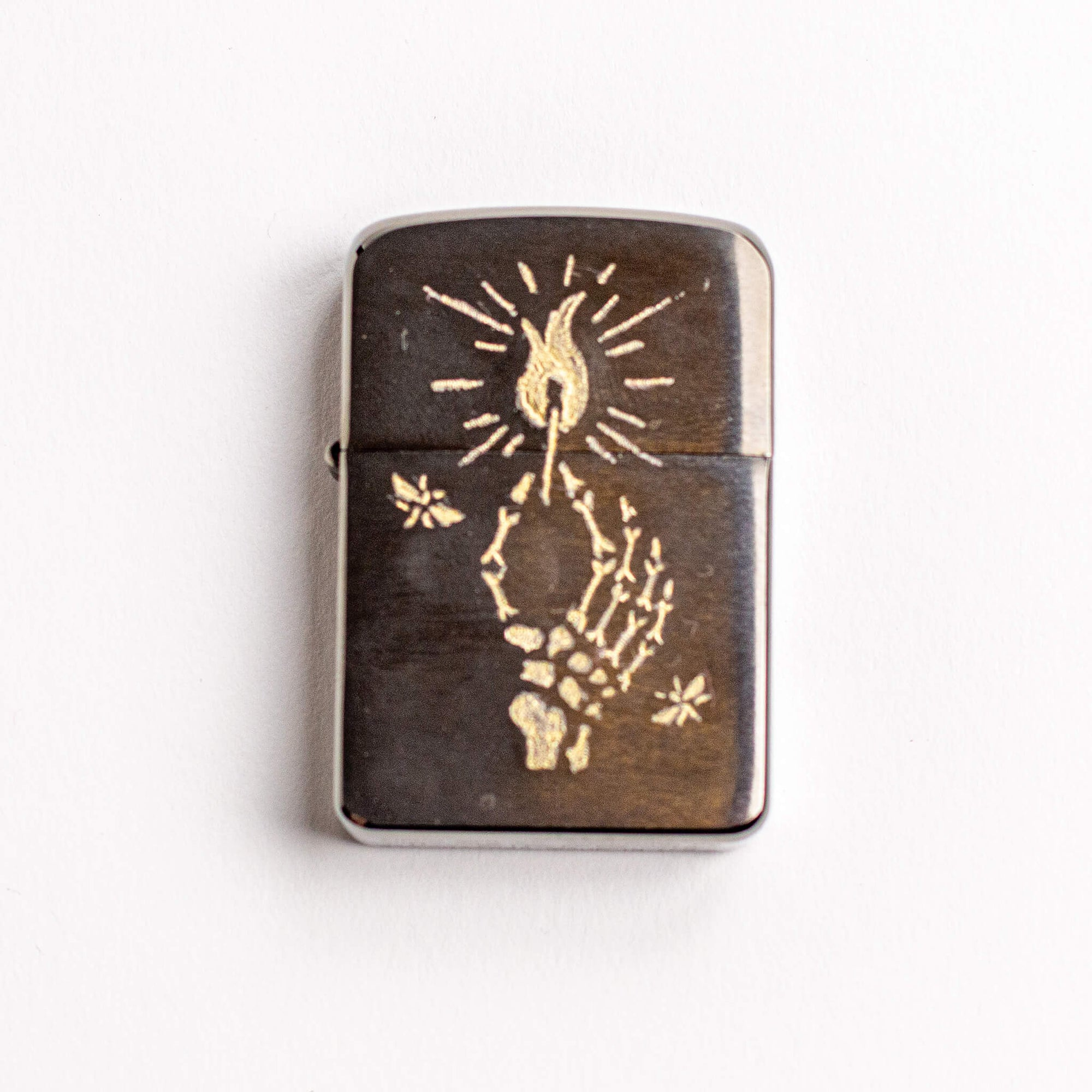 Be the flame, not the moth - Engraved Zippo