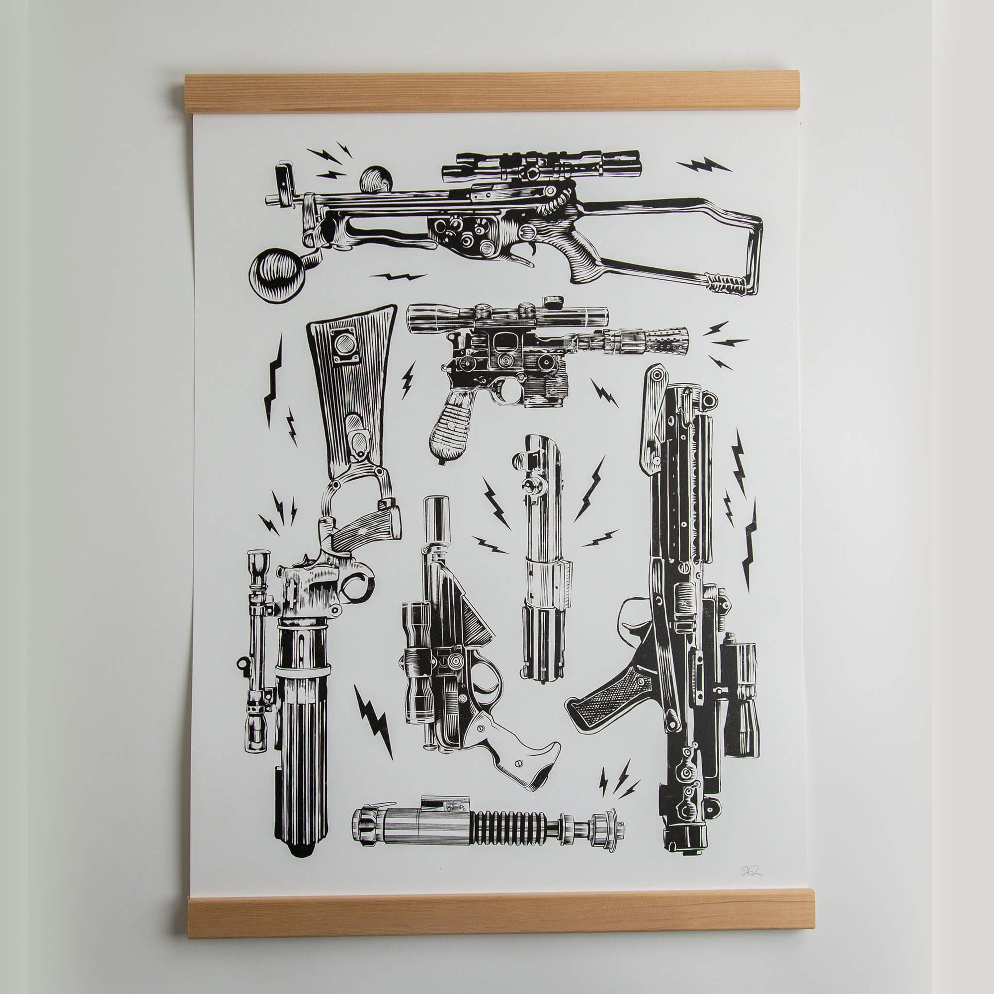 Space Battle Weapons - 19x25 Print