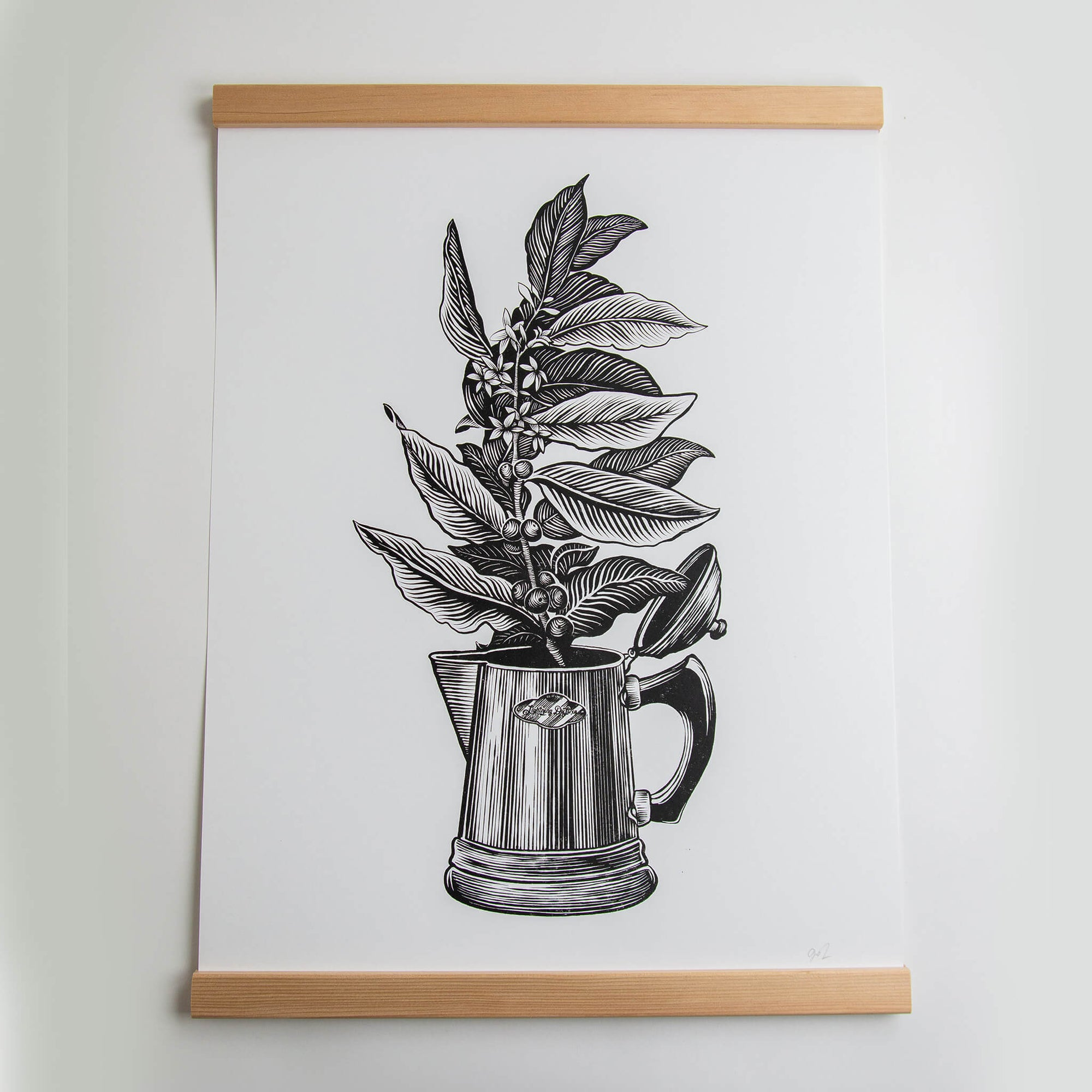 Botanical Coffee - 19x25 Print