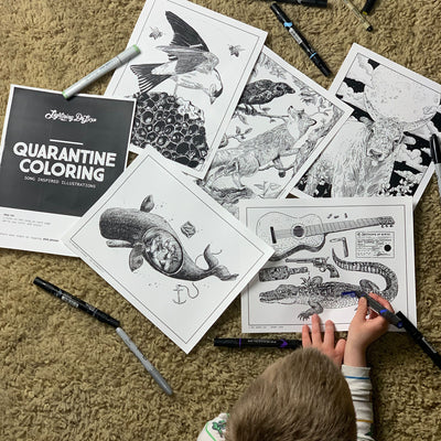 FREE Quarantine Coloring Book - Songs - By Dr Deviny