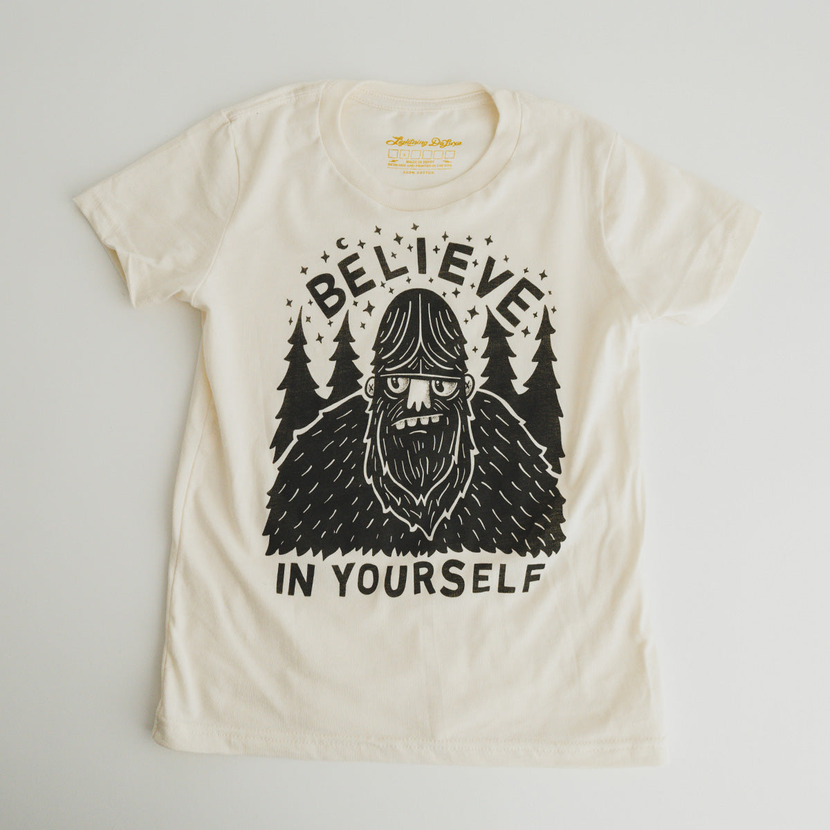 (KIDS) BELIEVE IN YOURSELF - SASQUATCH TEE