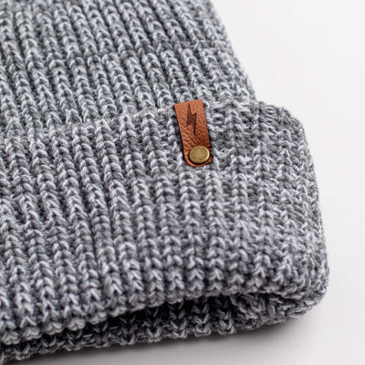 Bolt - Grey Knit Beanie