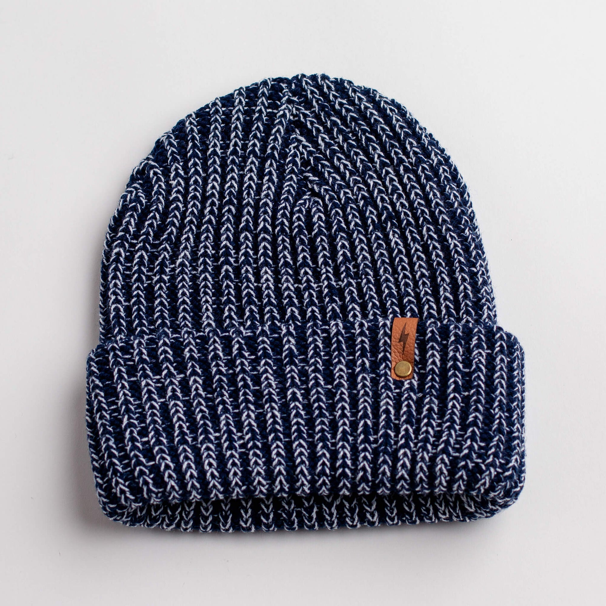 Bolt - Navy Knit Beanie