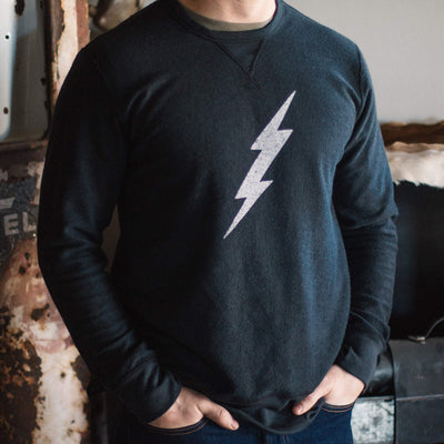 Lightning Deluxe Reversible Sweatshirt - Black