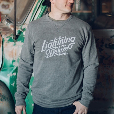 Lightning Deluxe Reversible Sweatshirt - Grey