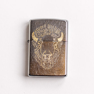 BISON - Engraved Zippo