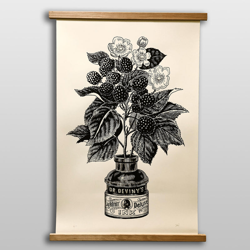 Blackberry Ink - Large 24x38 Art Print