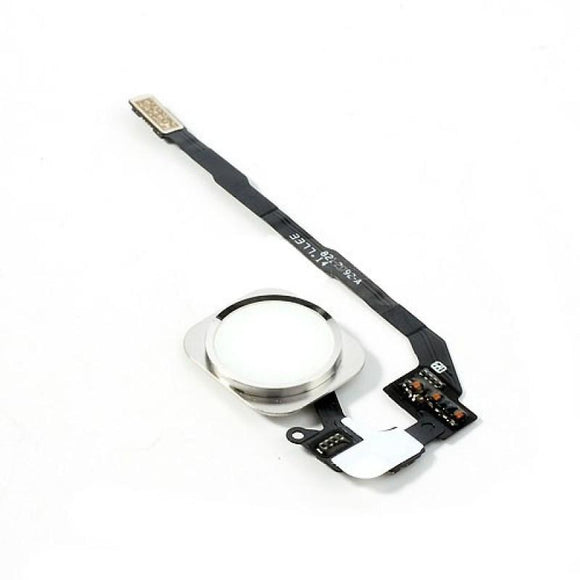 iPhone 5S Home Button Flex Cable with Fingerprint Sensor - White and Silver