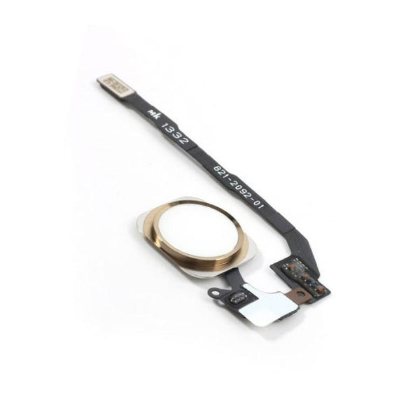 iPhone 5S Home Button Flex Cable with Fingerprint Sensor - Gold
