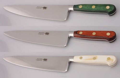 Thiers-Issard Four-Star Elephant Sabatier Knives 10 in chef knife