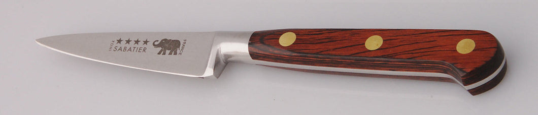 Thiers-Issard Four-Star Elephant Sabatier Knives 3 in paring knife - red stamina