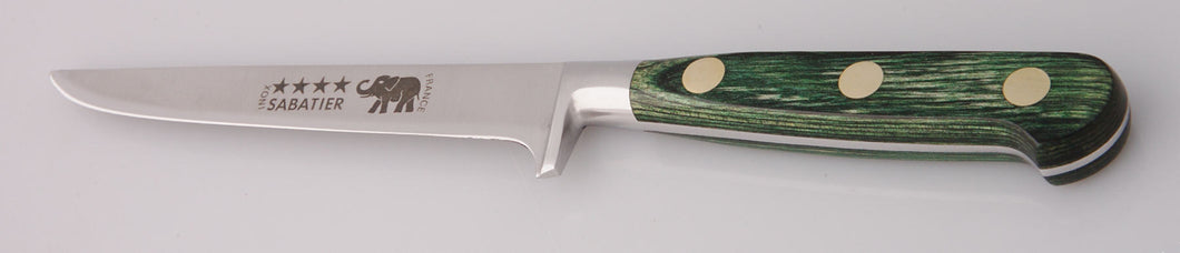 Thiers-Issard Four-Star Elephant Sabatier Knives 5 in boning knife - green stamina