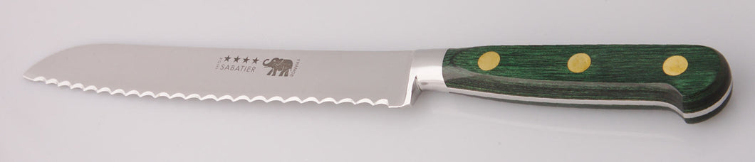 Thiers-Issard Four-Star Elephant Sabatier Knives 8 in bread knife - green stamina