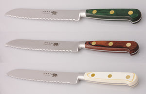 Thiers-Issard Four-Star Elephant Sabatier Knives 8 in bread knife